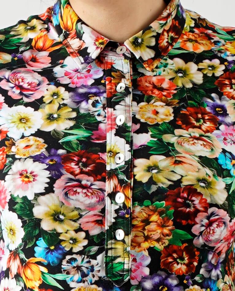 Blomstret skjorte dame