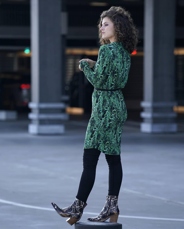 Grøn skjortekjole