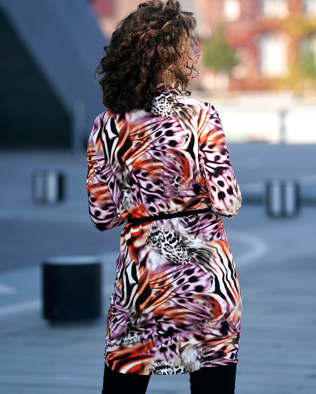 Mønstret skjortekjole