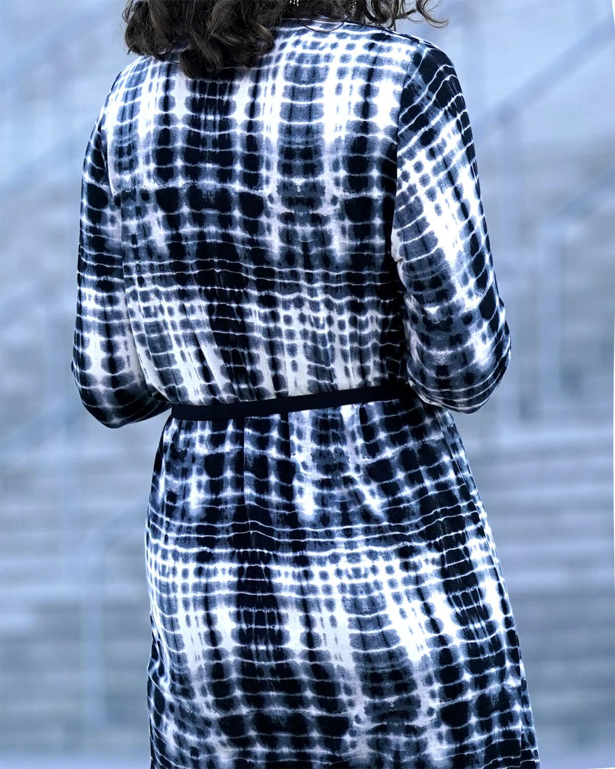 Smalt sort elastikbælte med sølvspænde