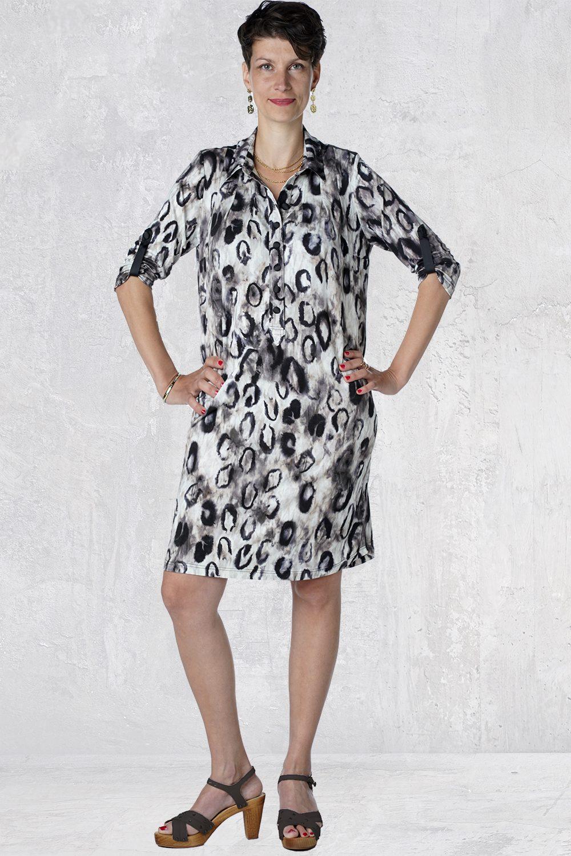 Leopard skjortekjole